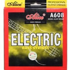 Струны для бас гитары Alice A608(4)-L, никель, 40-95