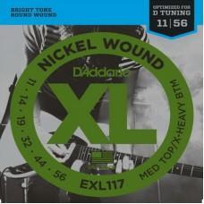 D'Addario EXL-117, никель 11-56 струны для электрогитары