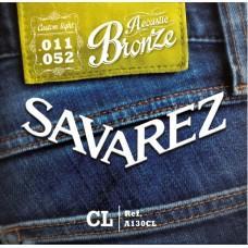 Струны Savarez A130CL, акустические, бронза 11-52