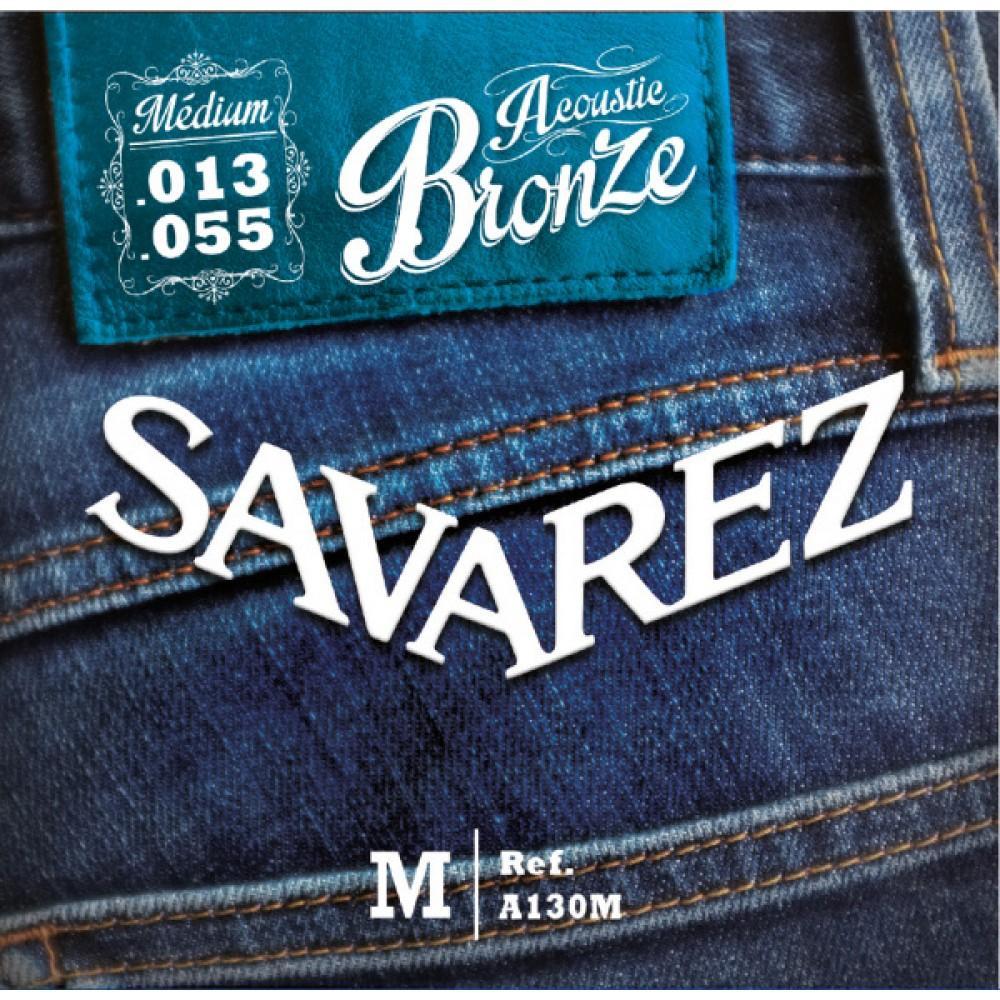 Струны Savarez A130M, акустические, бронза 13-55