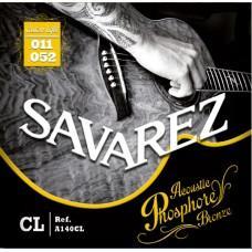 Струны  Savarez A140CL, акустические, фосфорная бронза 11-52