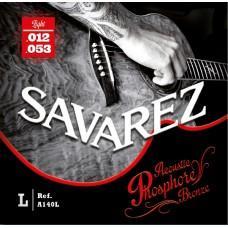 Струны  Savarez A140L, акустические, фосфорная бронза 12-53