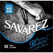 Струны  Savarez A140M, акустические, фосфорная бронза 13-55