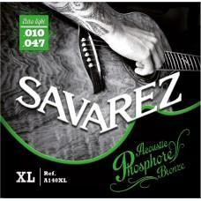 Струны  Savarez A140XL, акустические, фосфорная бронза 10-47