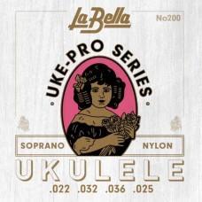 La Bella 200 Uke-Pro, укулеле сопрано (022, 032, 036, 025)