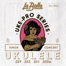 La Bella 100W Uke-Pro, для концертного / тенор укулеле (029, 033, 041, 030W)